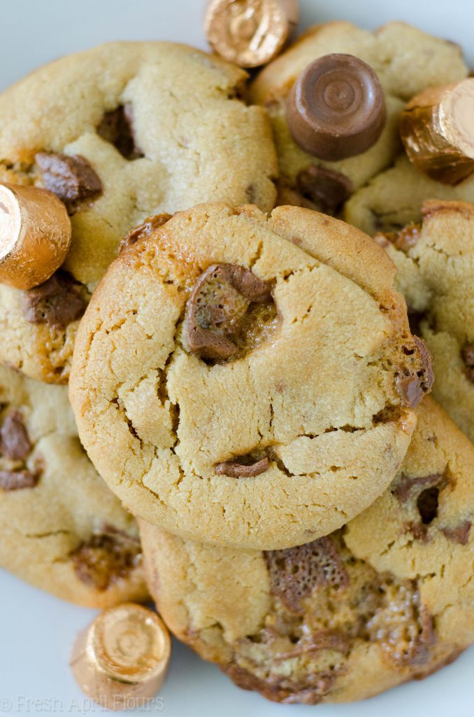Peanut Butter Rolo Cookies (Sumbitches): Soft and chewy peanut butter cookies filled with chopped Rolos.