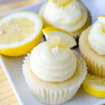 Triple Lemon Cupcakes: Tender lemon cupcakes filled with tangy homemade lemon curd and topped with a sweet, creamy lemon buttercream. A lemon lover's dream!