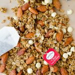 Chai Spiced Granola: Easy homemade granola spiced with the warm flavors of cinnamon, nutmeg, and cardamom. Perfect for a cold weather snack!