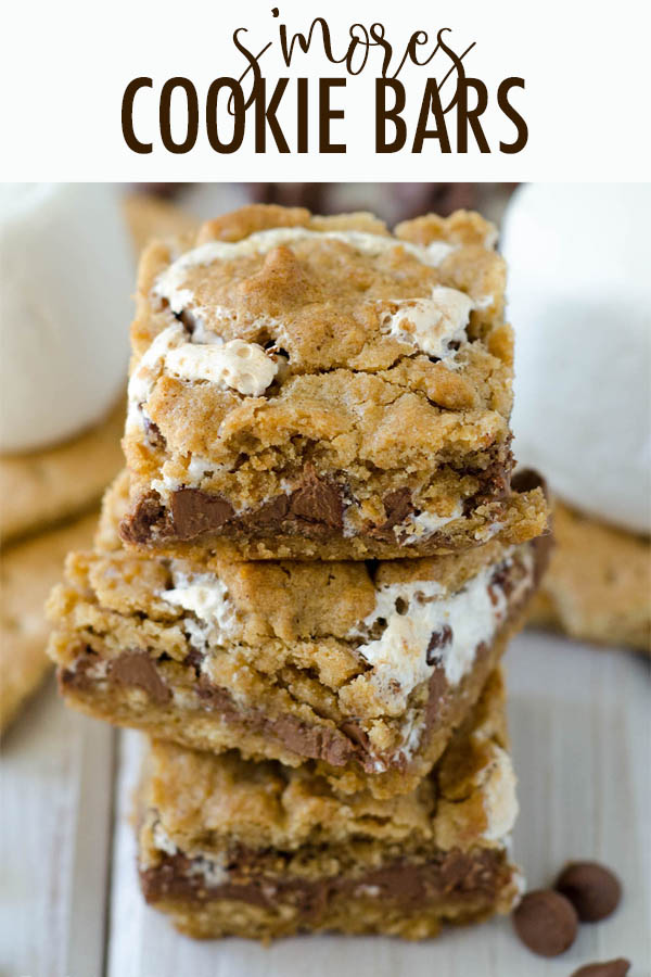 Soft and chewy graham cookie bars filled with a fluffy layer of marshmallow creme and milk chocolate chips. All the s'more without the flame!