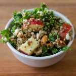 Apple, Quinoa, and Almond Kale Salad
