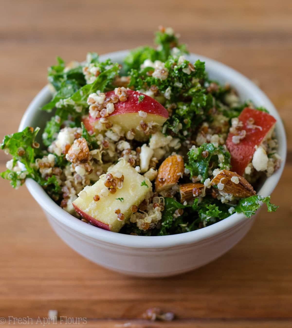 Apple Quinoa And Almond Kale Salad
