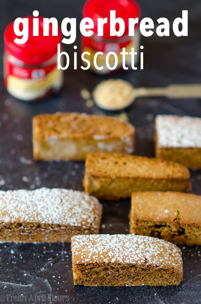 Gingerbread Biscotti: Traditional Italian cookies spiced with all the flavors of the holiday season, ready for a dunk in some eggnog!