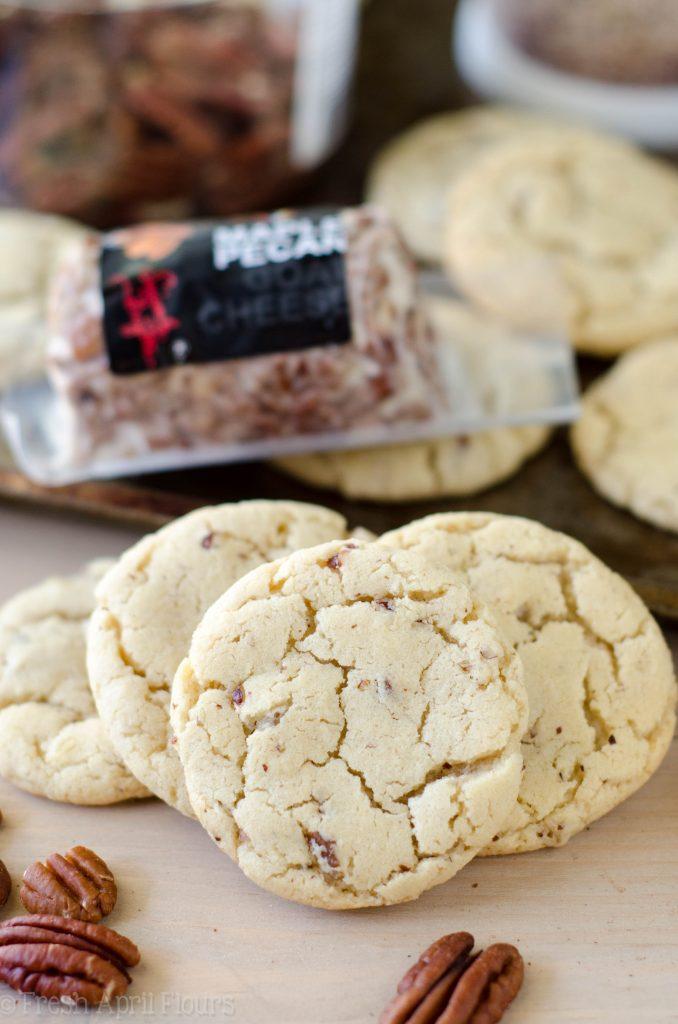 Maple Pecan Goat Cheese Sugar Cookies: Sweet and tangy sugar cookies made with maple pecan goat cheese.