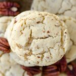 Maple Pecan Goat Cheese Sugar Cookies: Sweet and tangy sugar cookies made with maple pecan goat cheese.