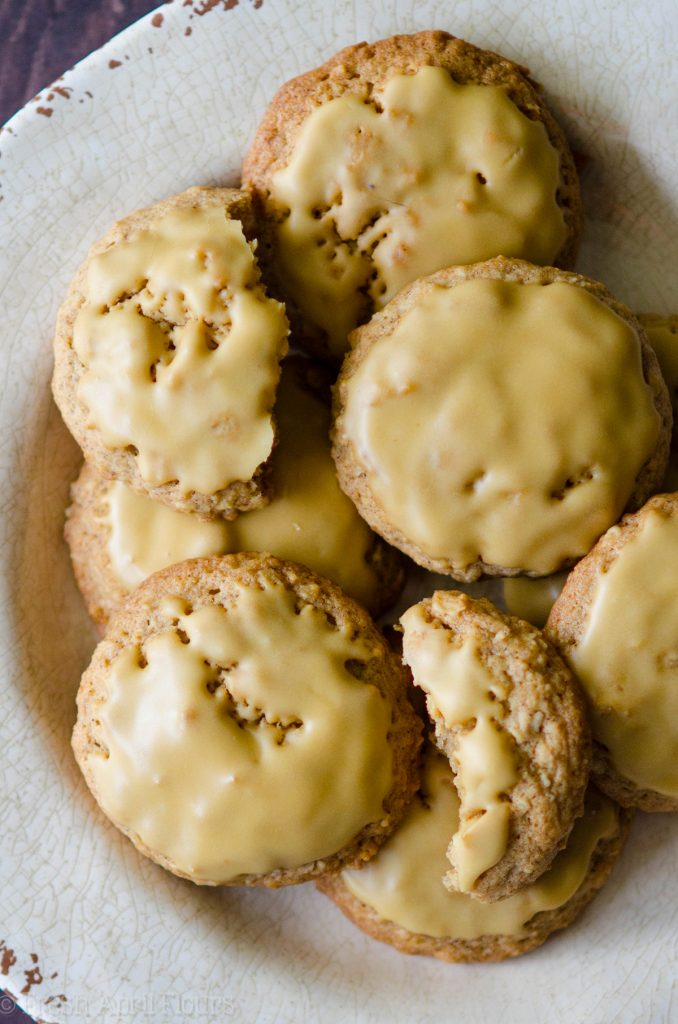 Molasses Iced Oatmeal Cookies: Quick and easy oatmeal cookies covered in a sweet and bold-flavored molasses icing.
