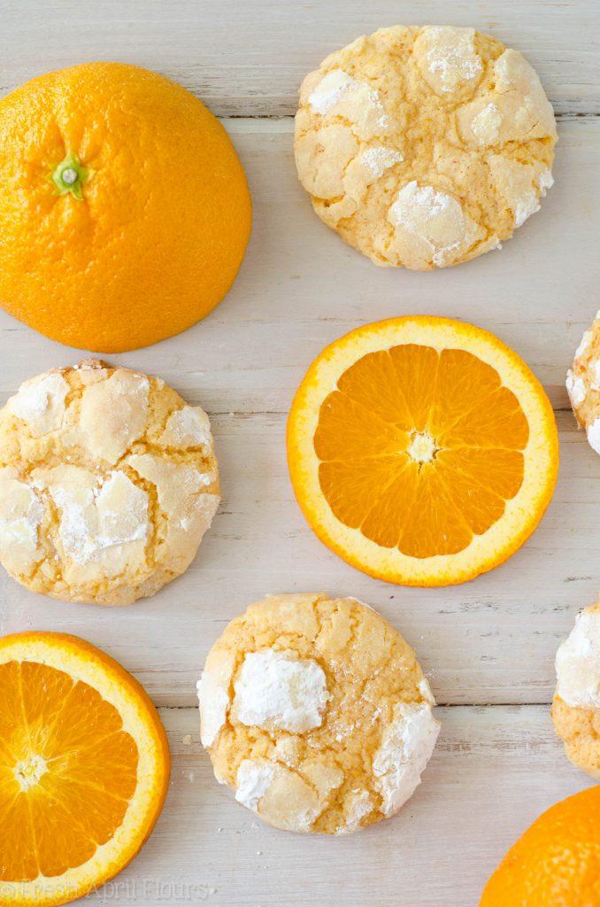 Orange Creamsicle Cookies: Sweet and tart crinkle cookies bursting with bright orange flavor.