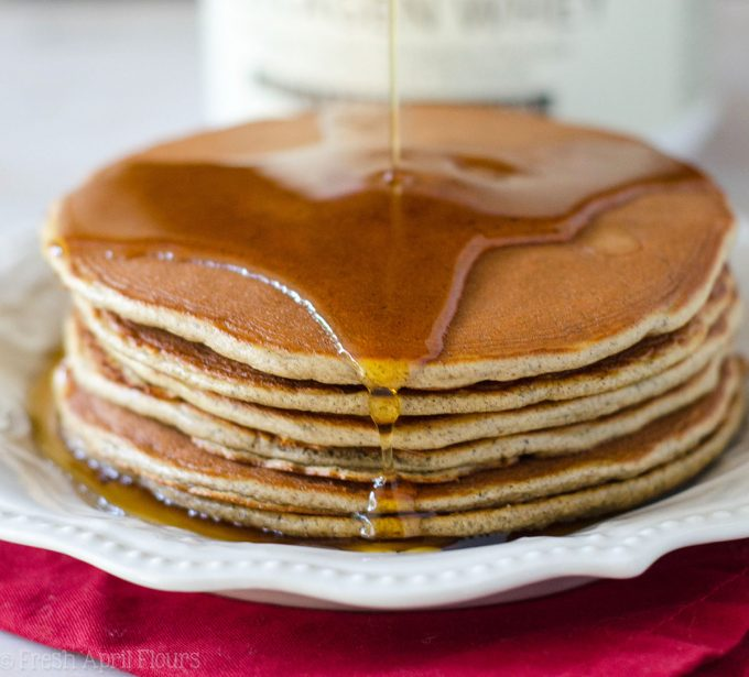 Vanilla Protein Pancakes: Hearty, gluten free, and protein packed pancakes come together in a snap to make breakfast even better. Makes great leftovers!