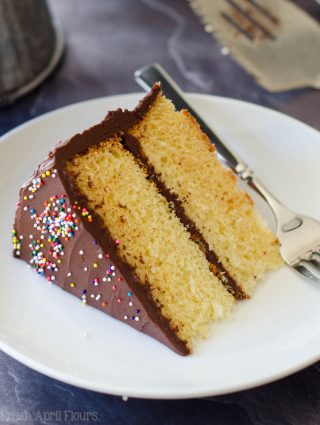 Yellow Layer Cake with Chocolate Buttercream