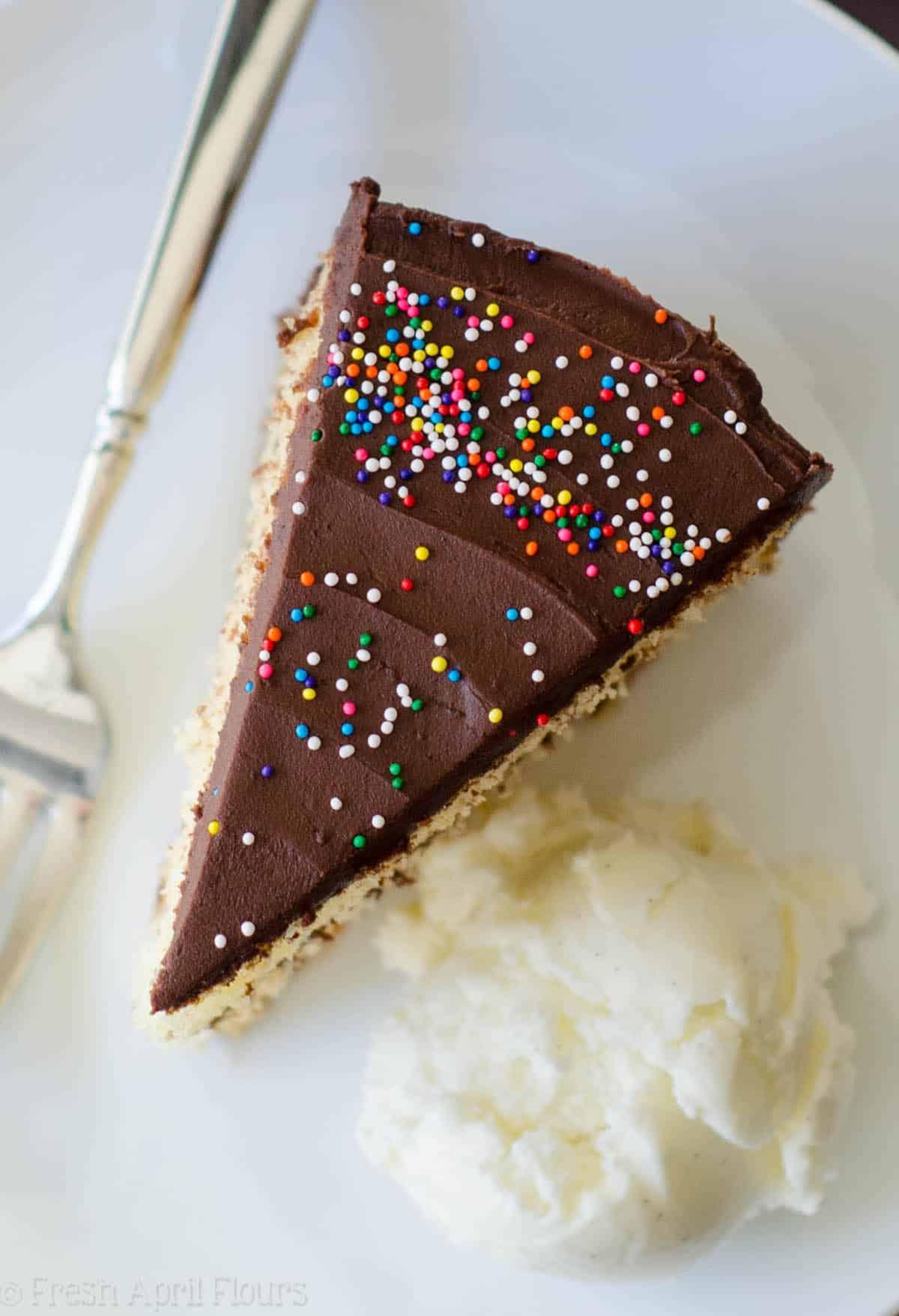 Yellow Layer Cake with Chocolate Buttercream