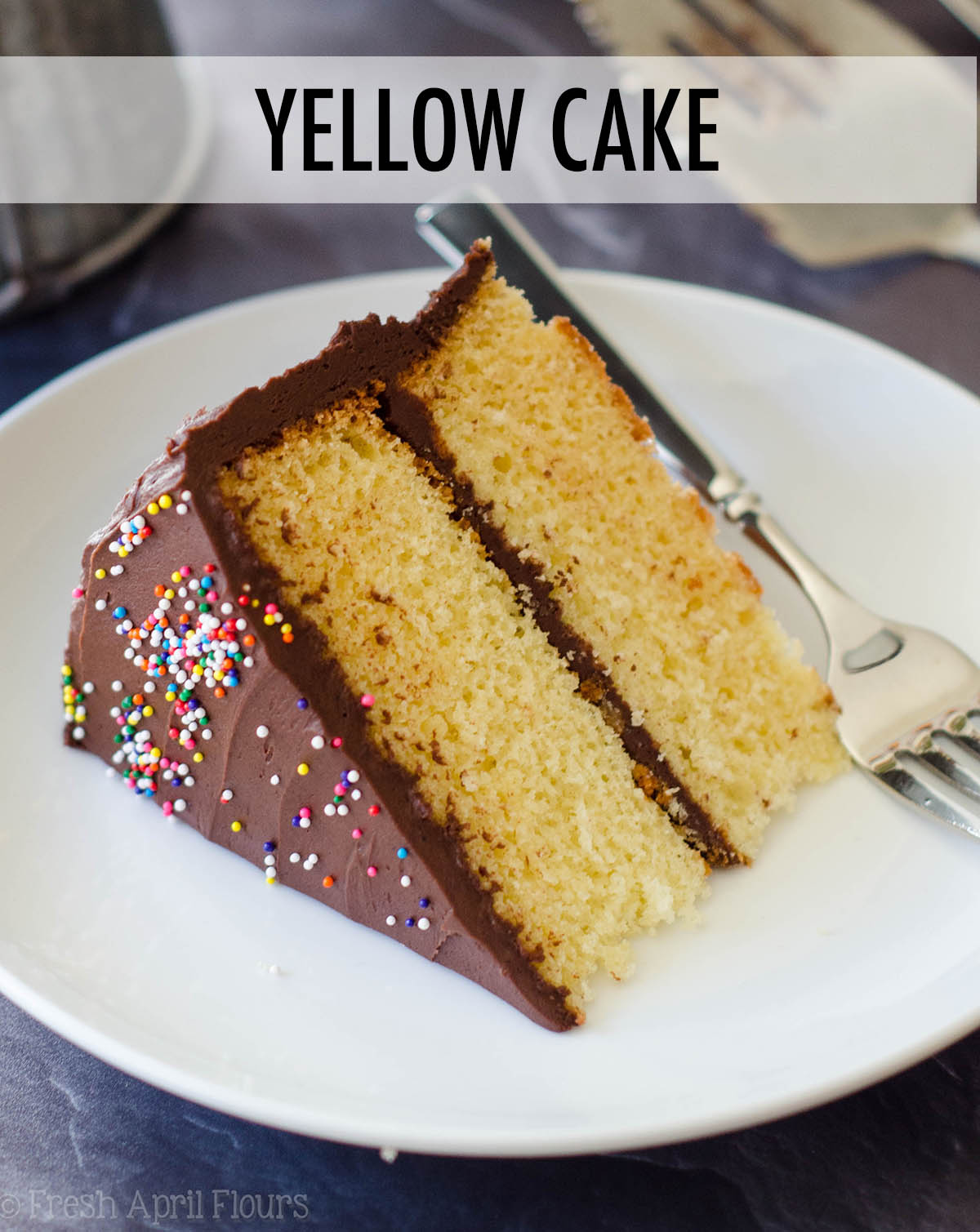 Rich and buttery yellow cake smothered in a decadent chocolate buttercream.