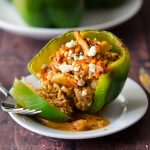 Make Ahead Meal: Buffalo Chicken Stuffed Peppers