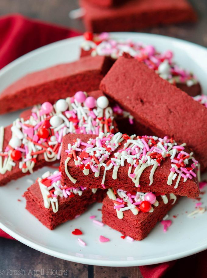 Red Velvet Biscotti: A Valentine's Day twist on classic biscotti using red velvet cake mix.