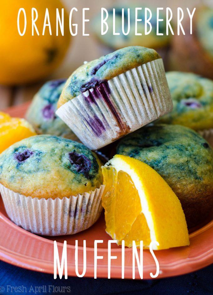 Orange Blueberry Muffins: Orange Blueberry Muffins: Classic blueberry muffins with a pop of orange flavor.