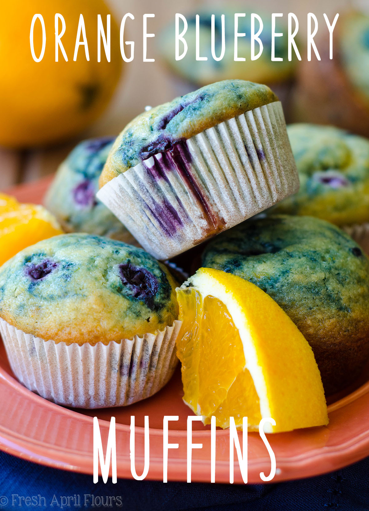 Orange Blueberry Muffins: Orange Blueberry Muffins: Classic blueberry muffins with a pop of orange flavor.