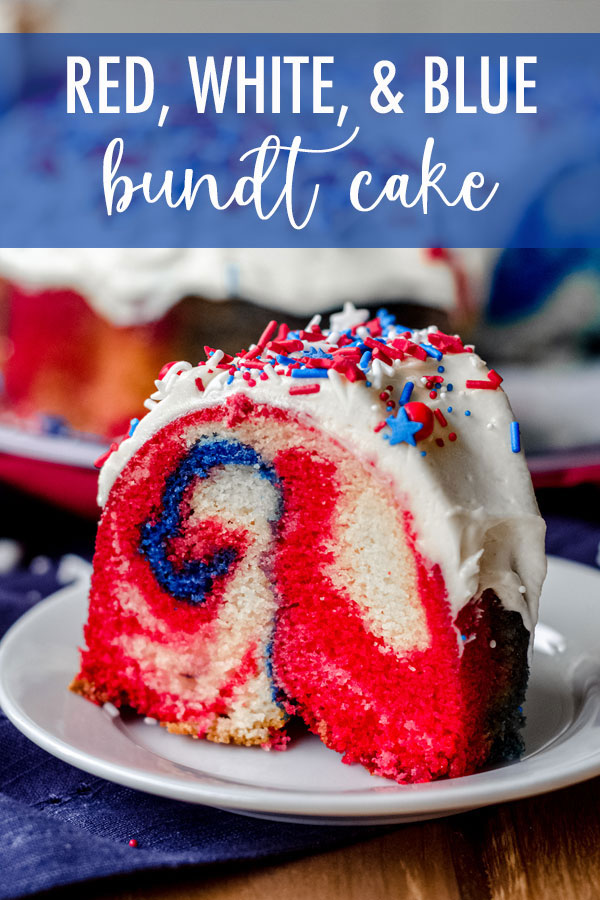 Classic white cake, swirled with colored batter for a patriotic flair. Change up the colors to match your occasion!