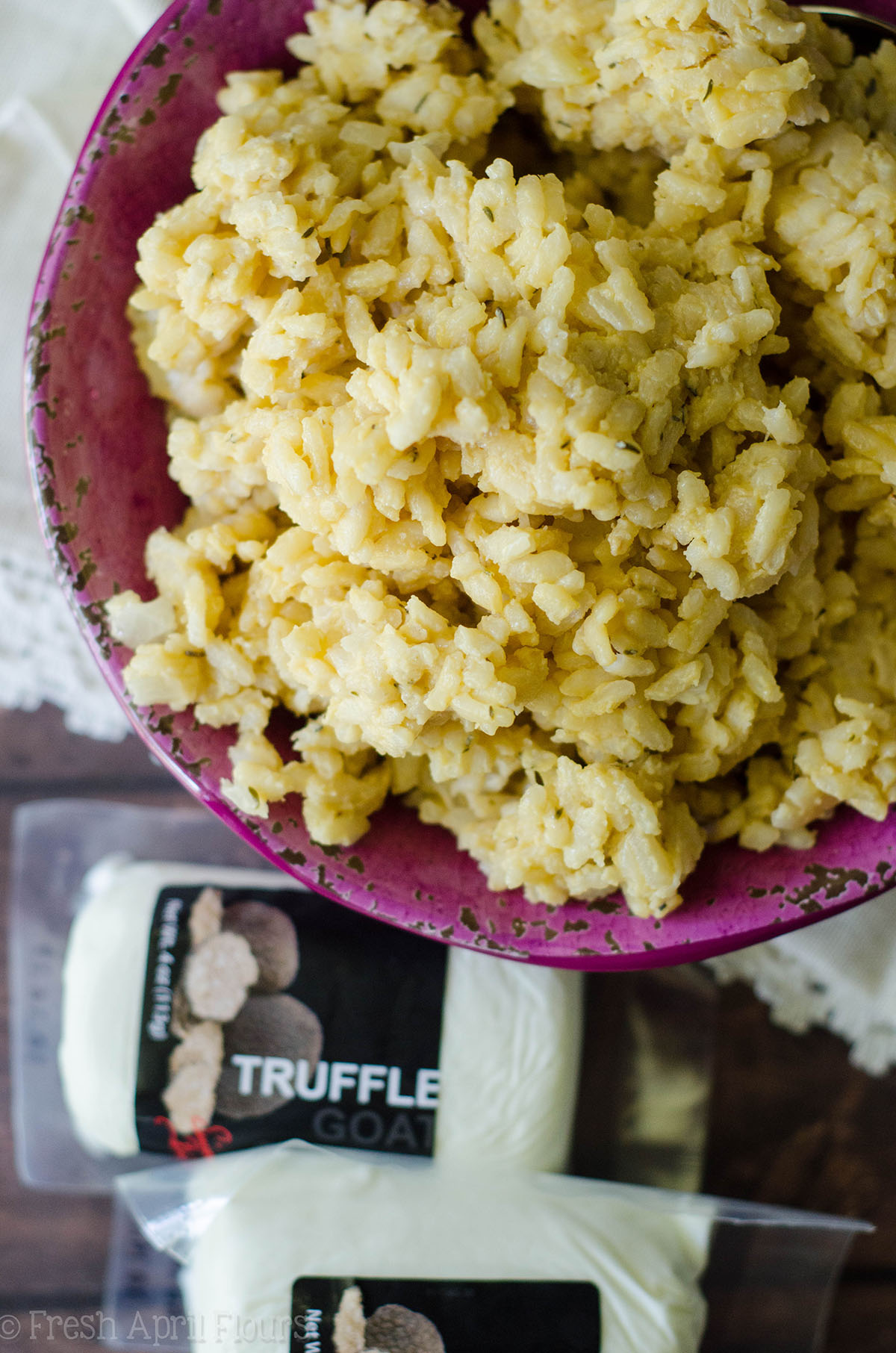 Truffle Goat Cheese Risotto: Classic risotto gets a jazzy makeover with creamy goat cheese and earthy truffle notes.