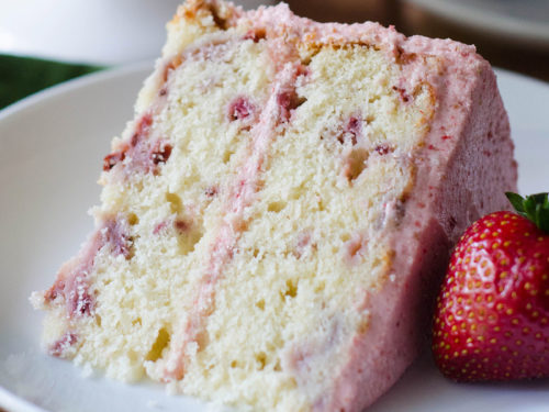 Super Fresh Strawberry Cake With Strawberry Buttercream Funny Birthday Cards Online Elaedamsfinfo