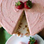 Fresh Strawberry Cake with Strawberry Buttercream