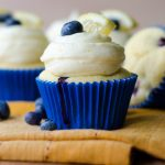 Blueberry Lemon Cupcakes with Lemon Buttercream + GIVEAWAY