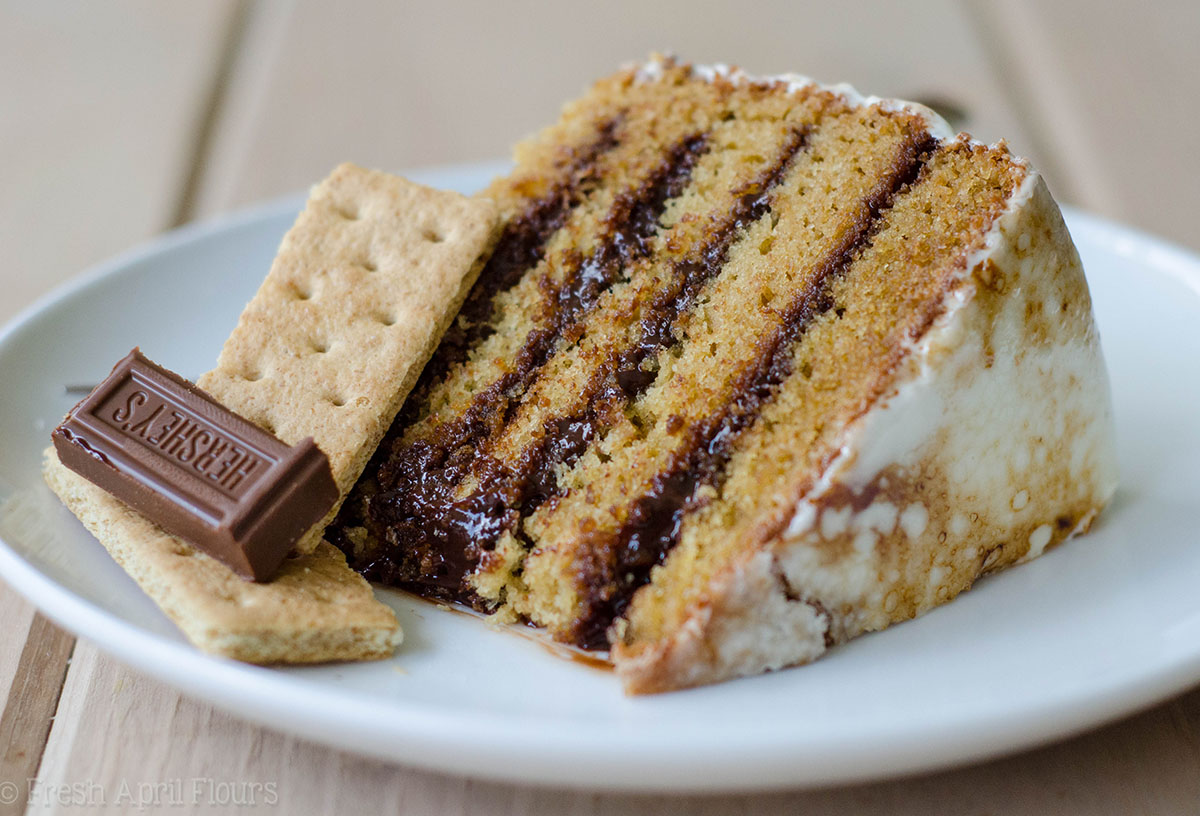 S\'mores Layer Cake