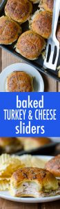 Easy turkey and cheese sliders baked in a honey mustard glaze.