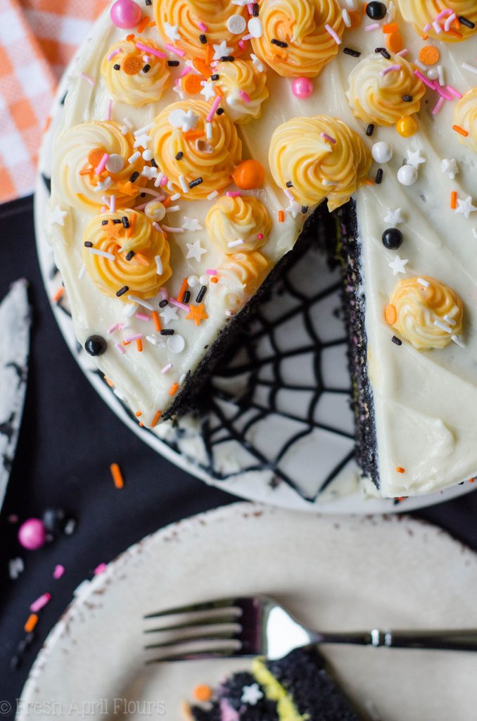 Black Velvet Layer Cake: Classic red velvet cake gets a spooky makeover in this black velvet edition perfect for Halloween!