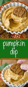 Pumpkin Dip: Creamy, spicy pumpkin dip sweetened with a touch of brown sugar, perfect for dipping cookies, apples, and graham crackers.