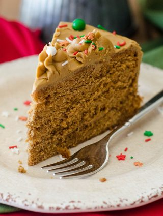 Gingerbread Layer Cake with Molasses Buttercream