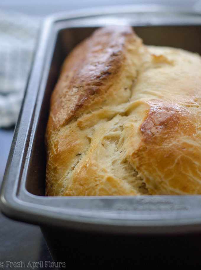 anise bread in a loaf pan