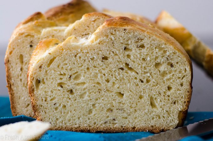 sliced loaf of anise bread