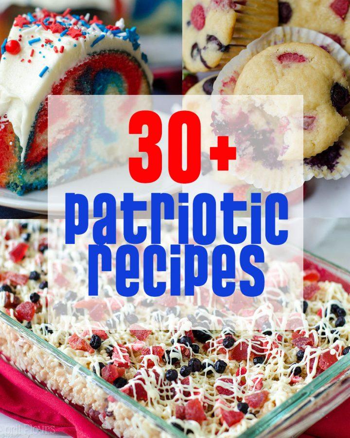 30+ Patriotic Recipes from Fresh April Flours