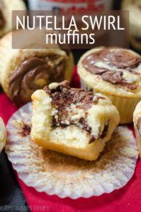 Nutella Swirl Muffins: Basic buttermilk muffins get a jazzy upgrade with Nutella swirled into every bite.