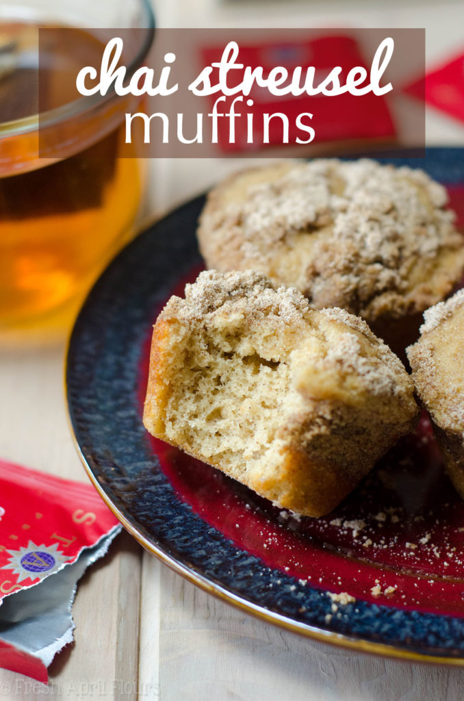 Chai Spiced Muffins: Buttery, brown sugar muffins spiced with cardamom and topped with a chai spiced streusel give a whole new dimension to your morning muffin.