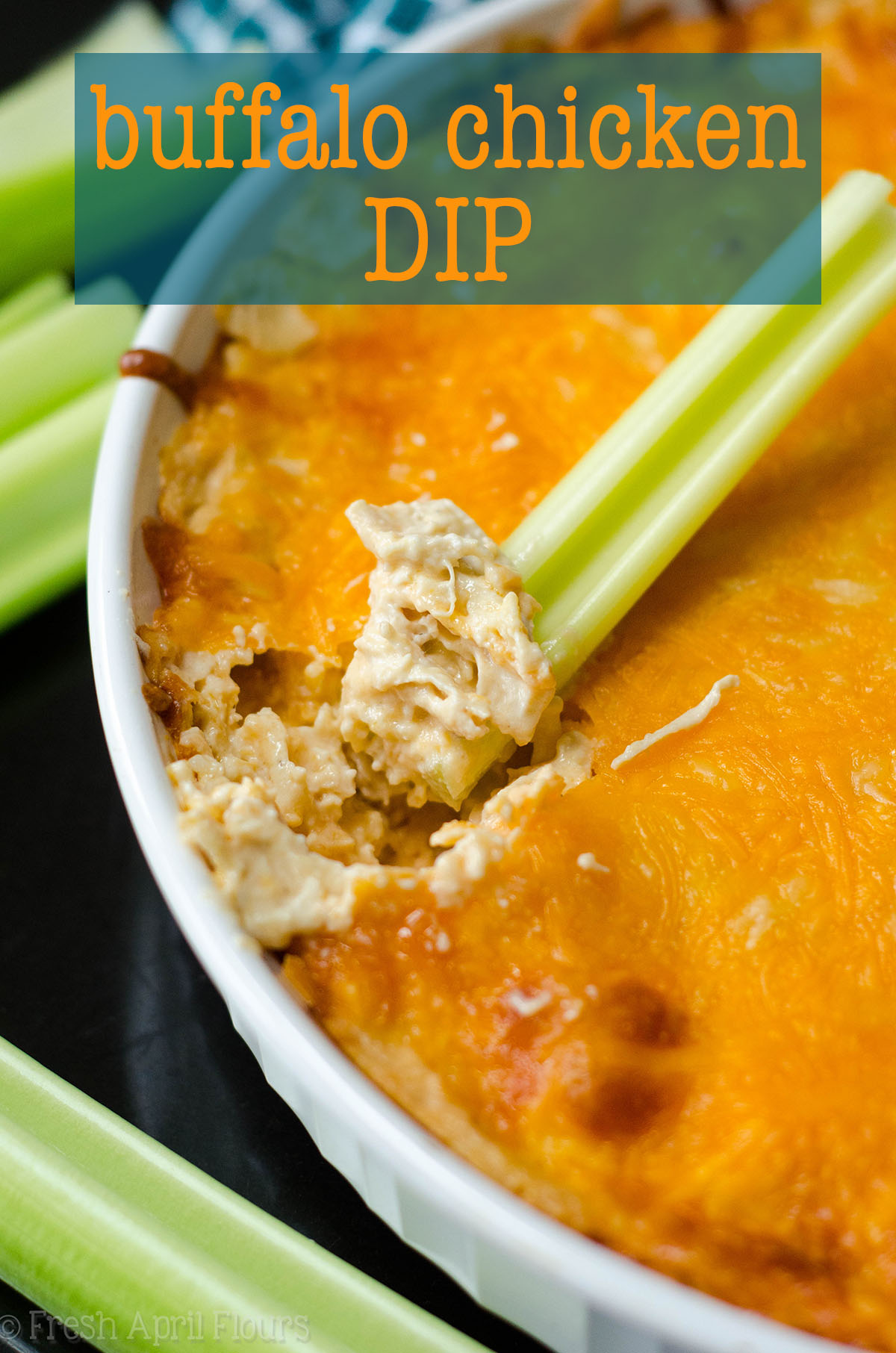 Buffalo Chicken Dip: Everyone should have a good buffalo chicken dip recipe in their back pocket-- consider this easy one for your next dippable occasion!