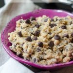 Chocolate Chip Cookie Dough Dip: Safe-to-eat eggless cookie dough ready to eat with a spoon or a dipper!