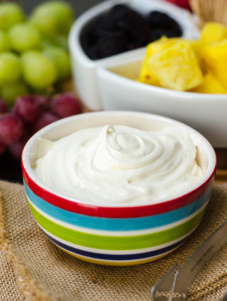 Classic Fruit Dip: Just two ingredients make the easiest and most delectable fruit dip. Jazz it up with a touch of your favorite extract!