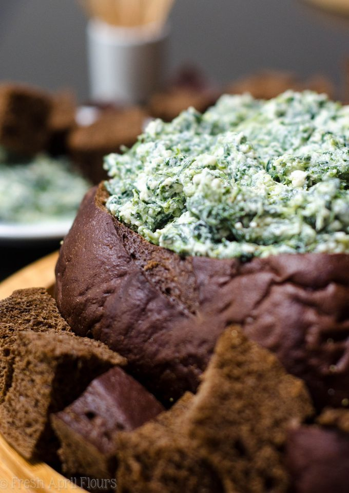 Spinach Dip: A simple creamy cheese dip filled with spinach. Serve it cold or warm it up!