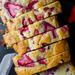 Strawberry Lemonade Quick Bread: A simple quick bread loaded with strawberries and covered in a lemonade glaze. Perfect for summer!