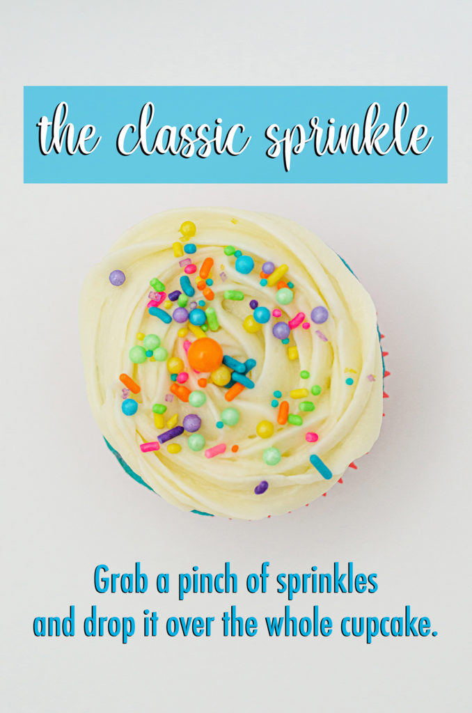 How Many Sprinkles Do I Need? A comprehensive overview of exactly how many sprinkles you need for your preferred method of decorating cupcakes.