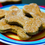 Homemade Pumpkin Dog Treat (Peanut Free): Simple homemade dog treats made with pumpkin puree, whole wheat flour, and bacon.