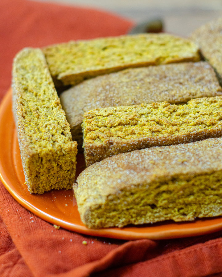Pumpkin Spice Biscotti: Crunchy, flavorful biscotti get a fall makeover with real pumpkin purée and pumpkin pie spices.