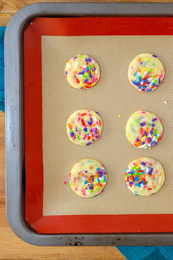 Mini Drop Sugar Cookies with Sprinkles: Soft and chewy sugar cookies filled with sprinkles. Keep them mini or make them standard size. Fill with your favorite holiday sprinkles!