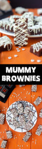 How To Make Mummy Brownies: Turn ordinary from-scratch brownies into a seasonally spooky treat! With white chocolate and candy eyeballs, you'll be the most popular monster at the mash!