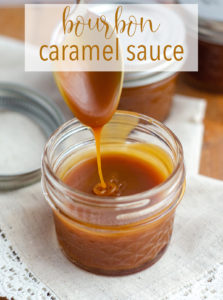Bourbon Caramel Sauce: Learn to make your own salted caramel sauce at home. Add no bourbon or a lot of bourbon to make it something special!