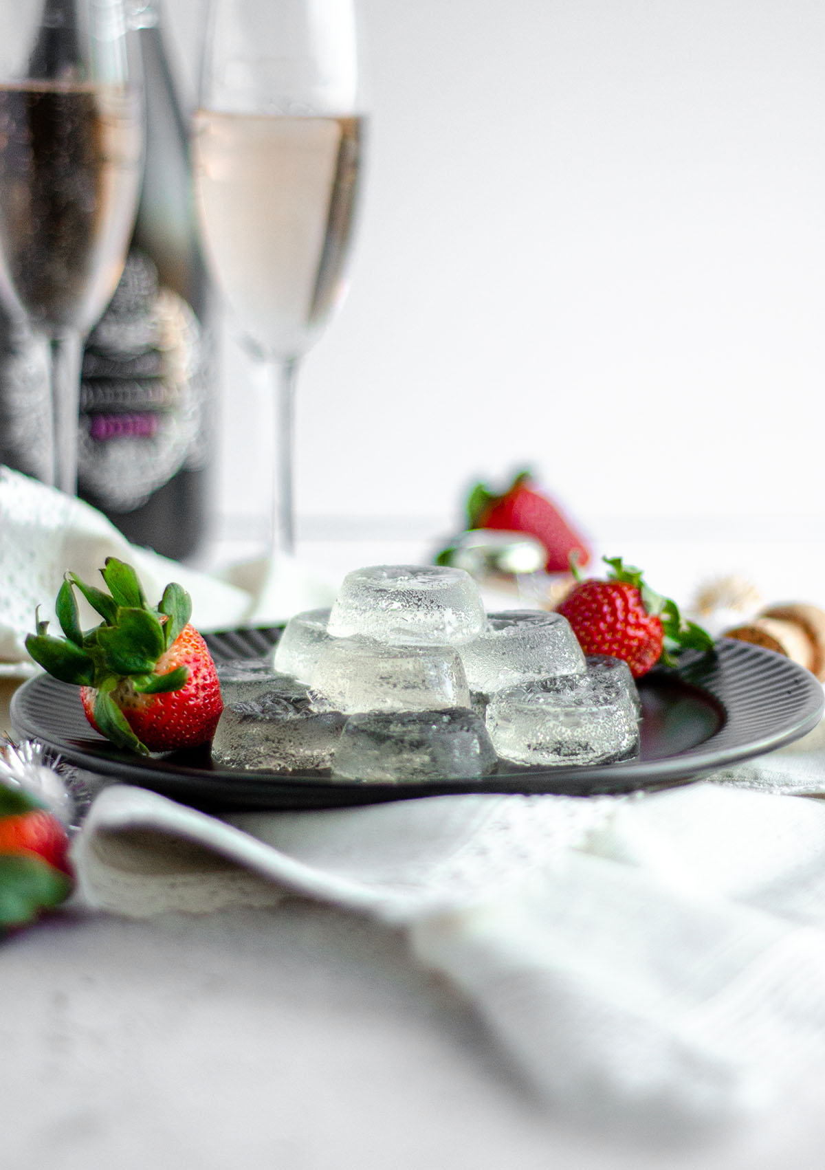 Easy Jell-O shots made with flavored seltzer, champagne of your choice, and vodka.