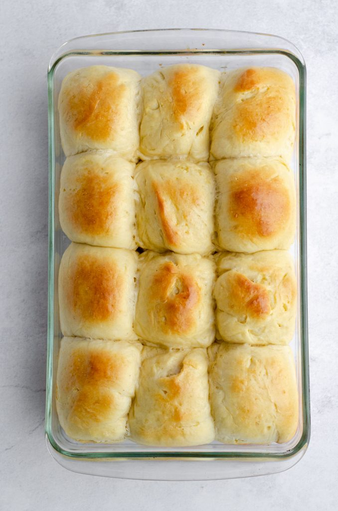 Easy Yeast Rolls: These easy yeast rolls are made with simple ingredients and are perfect for yeast bread beginners. This recipe results in soft, pillowy rolls that can be made ahead of time and allowed to rest overnight in the refrigerator or baked right away.