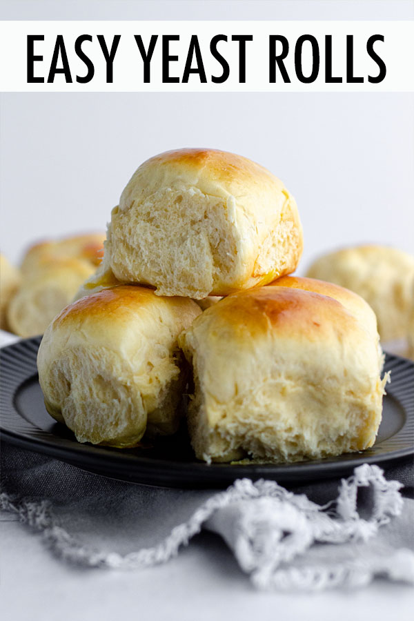 These easy yeast rolls are made with simple ingredients and are perfect for yeast bread beginners. This recipe results in soft, pillowy rolls that can be made ahead of time and allowed to rest overnight in the refrigerator or baked right away.