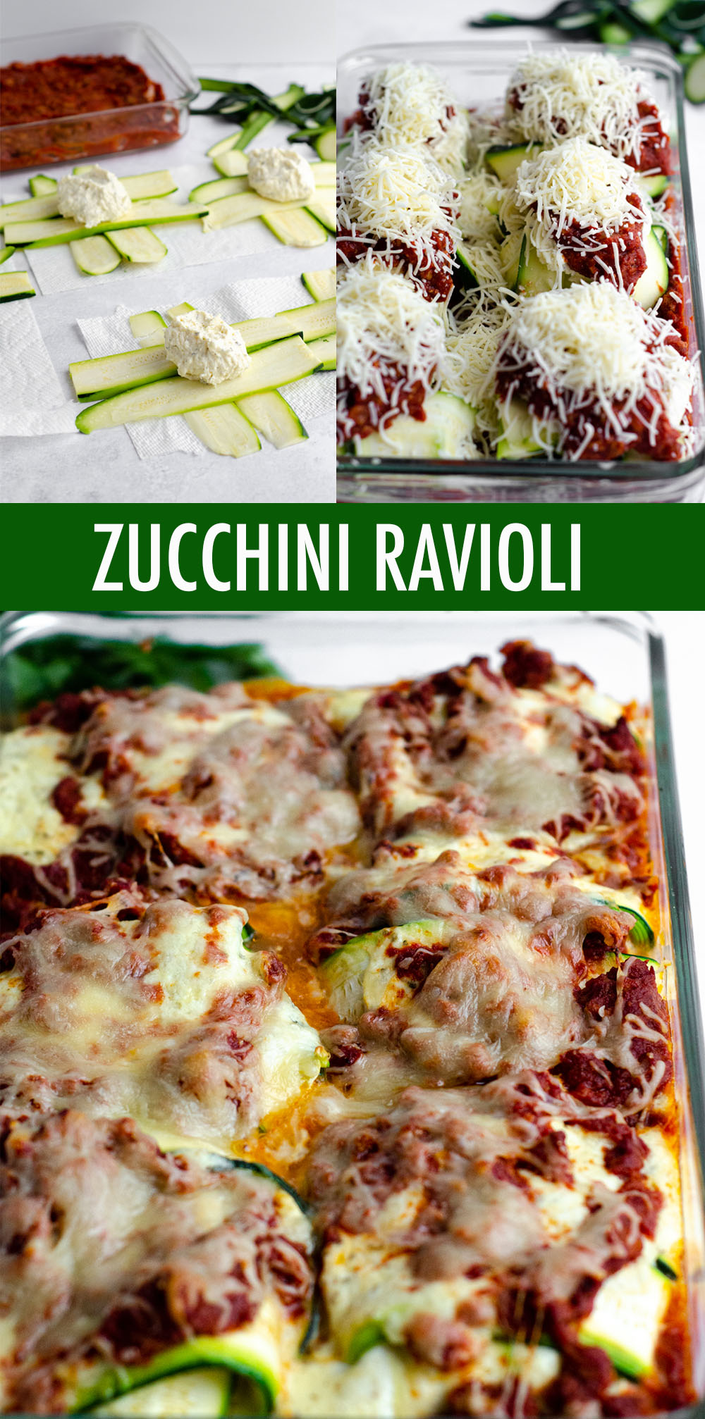 Traditional ravioli get a vegetable makeover-- use zucchini in place of pasta for a gluten free, keto, or low carb ravioli substitute. These simple zucchini ravioli bring all the flavor and filling without the noodles!