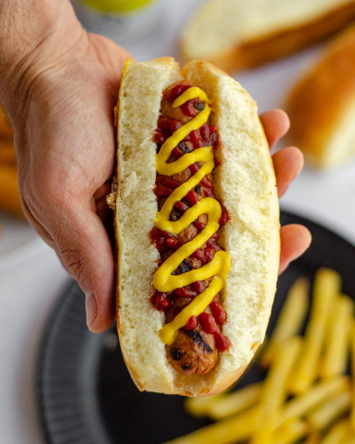 Homemade Hot Dog Buns: These easy homemade hot dog buns will be a new favorite addition to your cookout. This recipe makes 10, so you'll never be stuck with 2 extra buns ever again!